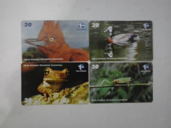 Cartões Telefônicos - Animais Silvestres Ce - Frete Grátis
