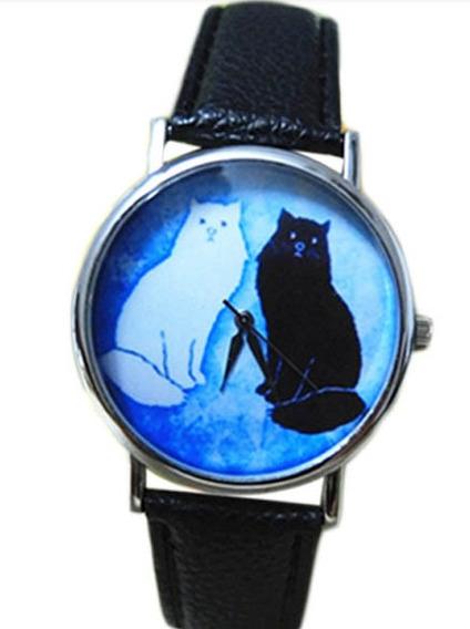 Relógio Feminino Cat Pulseira Couro Quartzo