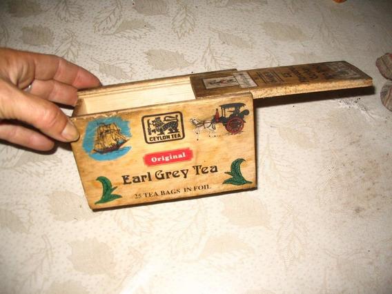 Antigua Caja De Te Original Earl Grey Tea 25 Saquitos Madera