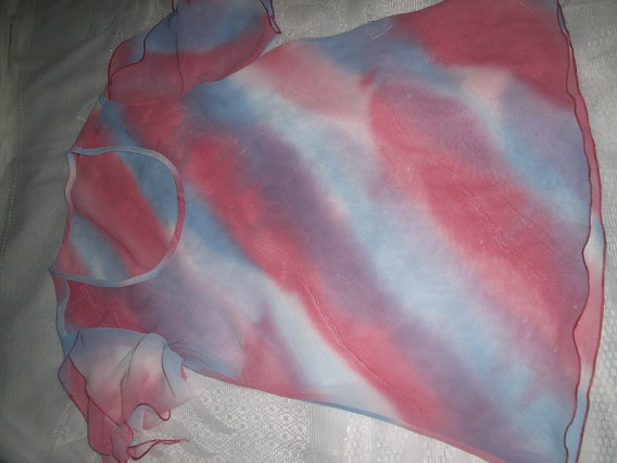 Blusa Crepe De Seda Estampa Arco Iristamanho M