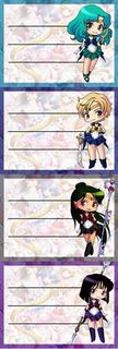 Etiquetas De Colegio De Sailor Moon Pluton Saturno Urano