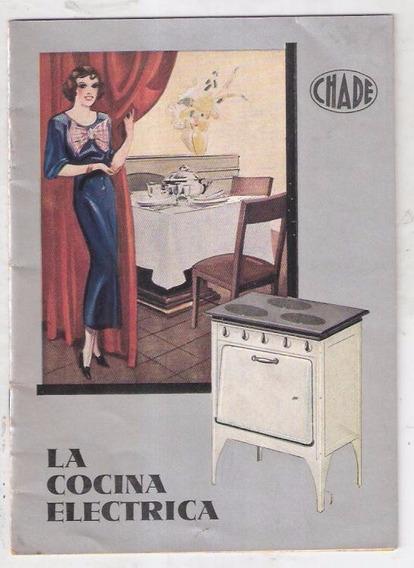 Publicidad Original Cocina Eléctrica Chade. 1935.
