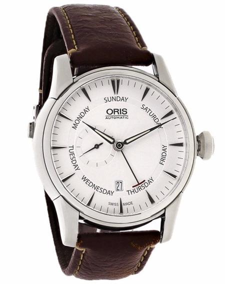 Reloj Oris Artelier Acero Piel Café Mujer 74576664051ls