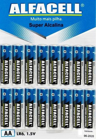16 Unds Pilha Super Alcalina A A Alfacell