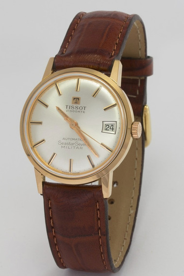 Relógio Tissot Seastar Seven Militar Automático Em Ouro 18k