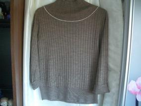 Blusa De Lã Com Bordados