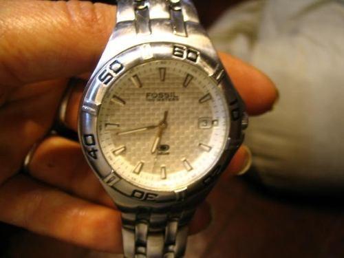 523d72cc2b6c Reloj Hombre Cuarzo Fossil Blue 100 Meters Traba Malla Origi -   990 ...