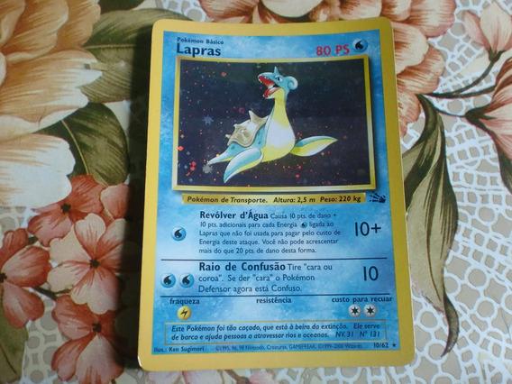 Pokemon Card Lapras Foil Coleção 2000 Ptbr.
