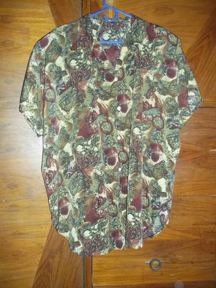 Camisa Señora Polyester Lindo Estampado Talle 2xl