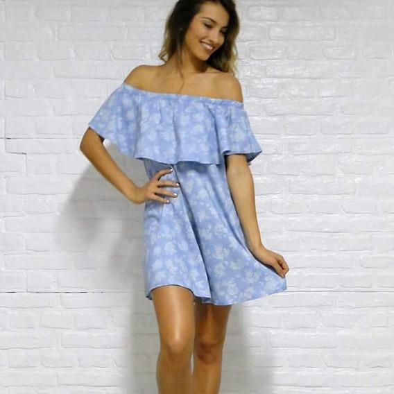 Vestido De Jean Estampado Talle M/l
