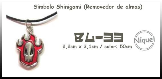 Colar Simbolo Shinigami ( Removedor De Almas )
