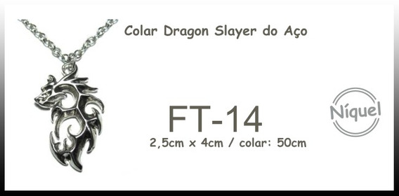 Colar Dragão Slayer Do Aço