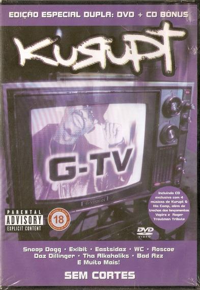 Dvd + Cd Kurupt - G Tv - Novo***