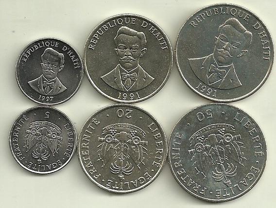 Serie De 3 Monedas De Haiti Año 1991/97 Sin Circular