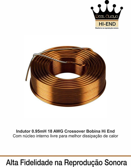 Indutor 0.95mh 18 Awg Divisor Frequencia Hi End Real Audyo