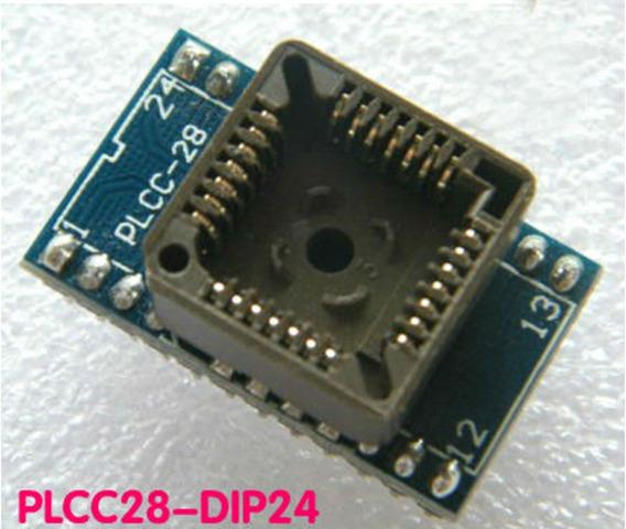 Adaptador Plcc28 Para Dip24 Programador Universal Eprom Soic