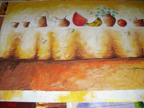 Imagen 1 de 3 de Ronny Yepez. Bodegon Con Frutas.