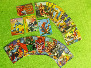 Lote De 35 Card Game Cards Marvel Overpower C/ 7 Especiais