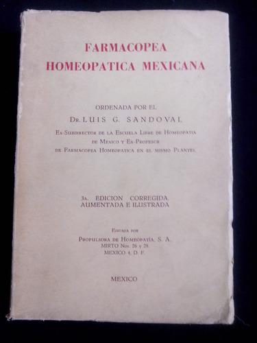 Farmacopea Homeopatica Mexicana Luis G Sandoval