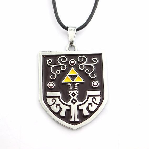 Colar Pingente Legend Of Zelda - Escudo Link Charm