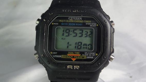 Citizen S R Shock Resist P130 Rarísimo Garant. Relogiodovovo