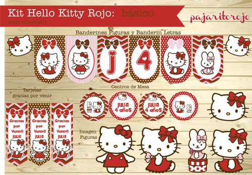 Kit  Hello Kitty Rojo