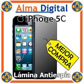 Lamina Protector Pantalla Antiespia iPhone 5 5s 5c Antichism
