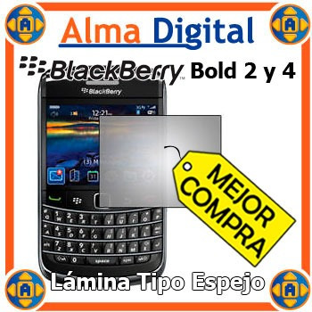 2x Lamina Protec Pantalla Espejo Blackberry Bold 2 9700 9780