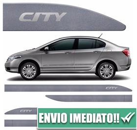 Jogo Friso Lateral City 09 A 15 Cinza Iridium Cor Original