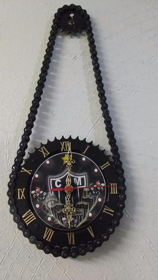 Relógio De Parede Atletico Mg Artesanal De Relação De Moto