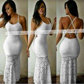 72a47faef3 Vestido Sereia Branco Ano Novo - Vestidos Longos Femininas no ...