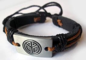Pulseira Bracelete Couro - Paz - Piece