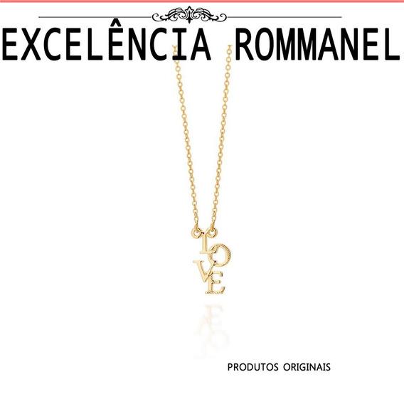 Gargantilha Rommanel Pingente Descriçao Love 531645