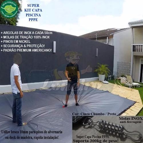 Capa Lona Proteção Para Piscina Grande 11x7 Mt + Molas Pinos