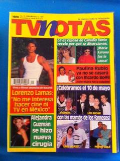 Revista Tvnotas Temerarios Paulina Rubio Alejandra Guzman
