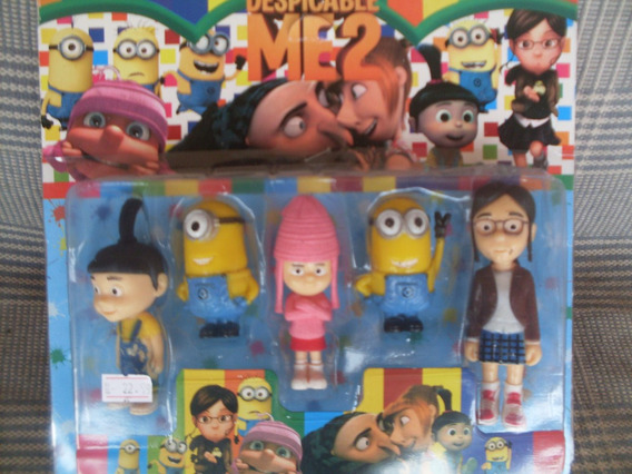 Bonecos Meu Malvado Favorito 2 - Kit Com 5 Personagens
