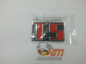 Emblema Ts E Passat Ts De 83 A 90 Volkswagen Vermelho
