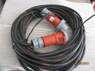 Cabo Eletrico Industrial Lineax H07rnf5g2.5 Conector 16a 28m