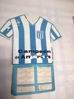 Calendario 1968 Racing Club Campeon De America Camiseta