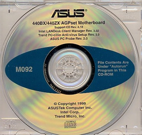 Cd Drivers Original Placa Mae Asus P2-99 Series