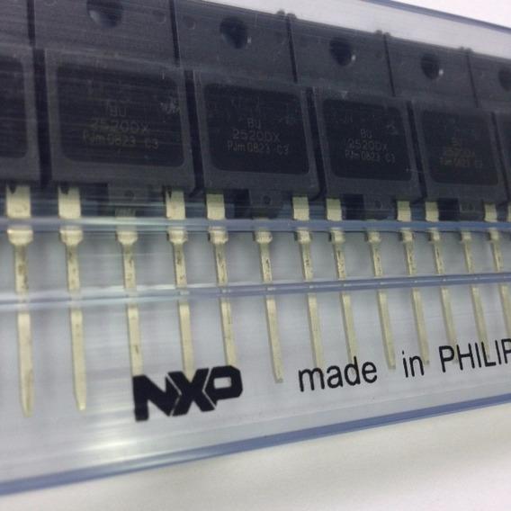 Kit Com 25 Peças Transistor Bu2520dx Original Philips Nxp