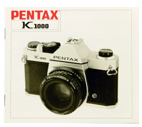 Manual Pentax K1000 Peça Genuína Ítem Colecionador Lacrado