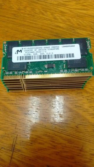 Notebook Sodimm Ddr 1gb 333/400 Mhz Nuevas