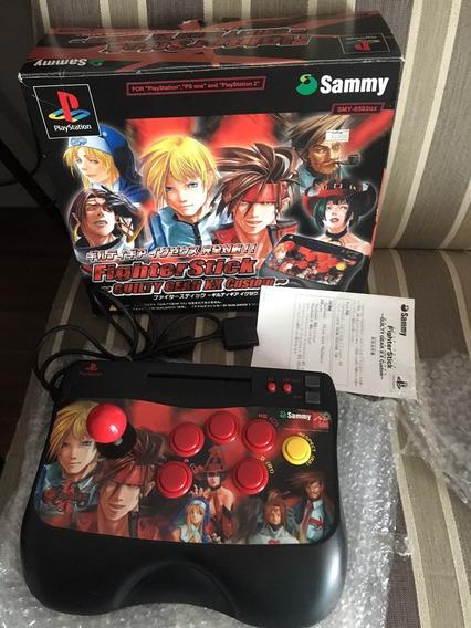 Controle Arcade Psx Playstation Fighterstick Guilty Gear Xx