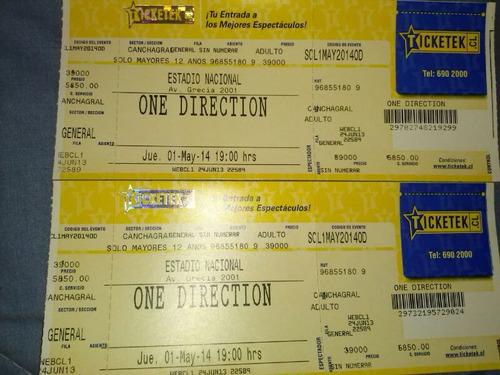 Entradas One Direction