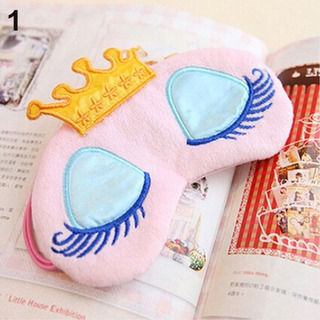 Mascara Para Dormir - Tapa Olho - Princesa Coroa Menina Rosa