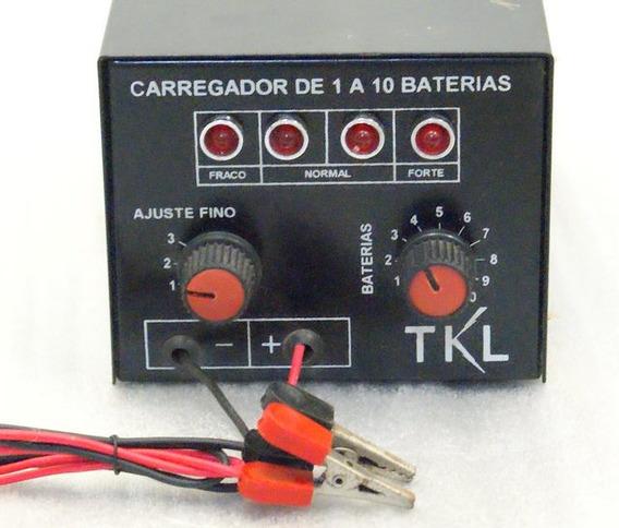 Carregador Ate 10 Baterias 6v