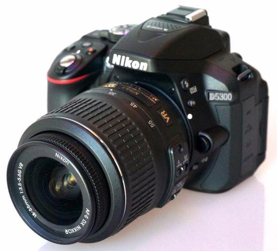 Câmera Nikon D5300 Lente 18-55 +64gb + Bolsa