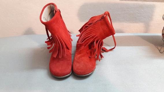 Botas Nuevas Rojas Con Flecos. Marca Mimo Talle 21