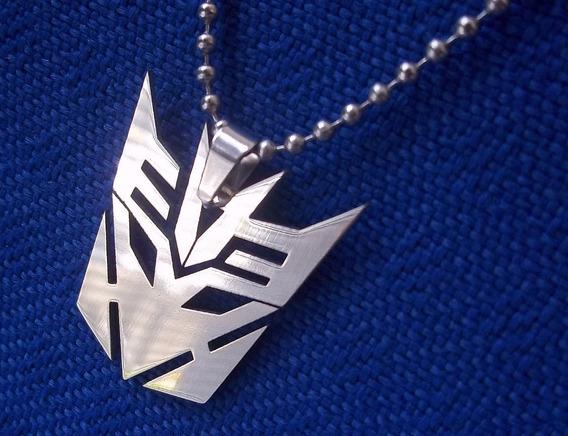 Colar Pingente Aço Transformers Unissex